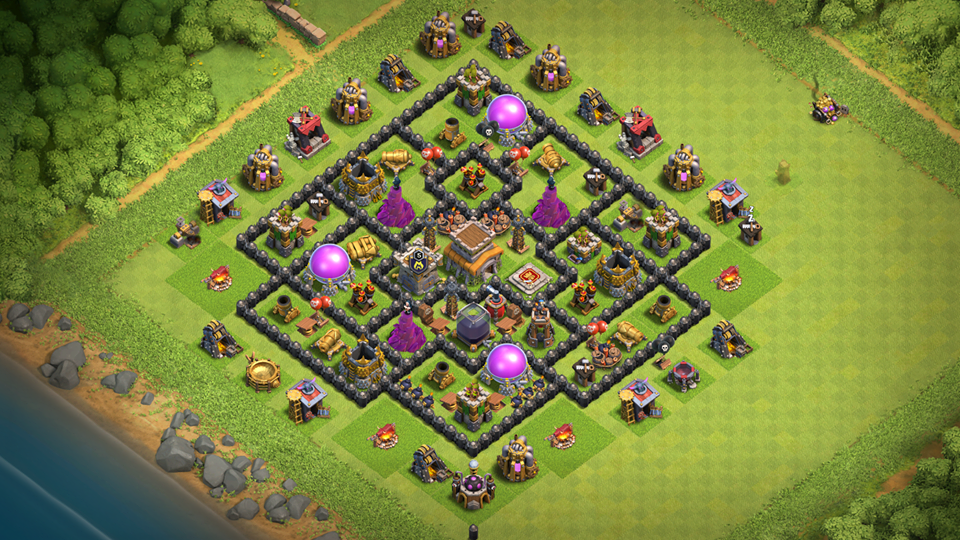 Coc Th 8 Best Defence Base 2019 8