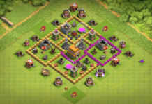 COC Town Hall 6 Hybrid Base Design
