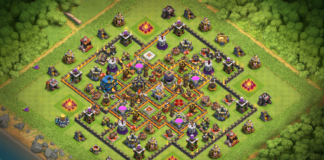 New TH11 Farming Base with Tornado Trap 2018