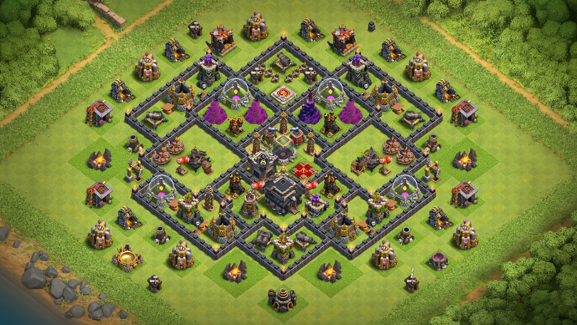 Best Th9 Dark Elixir Farming Base 2019 Base Coc Th 9 9