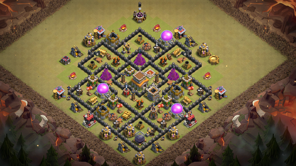 NEW! Clash of Clans Town Hall 8 War Base 2018
