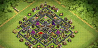 NEW TH9 TROPHY-FARMING Base 2018 with REPLAY