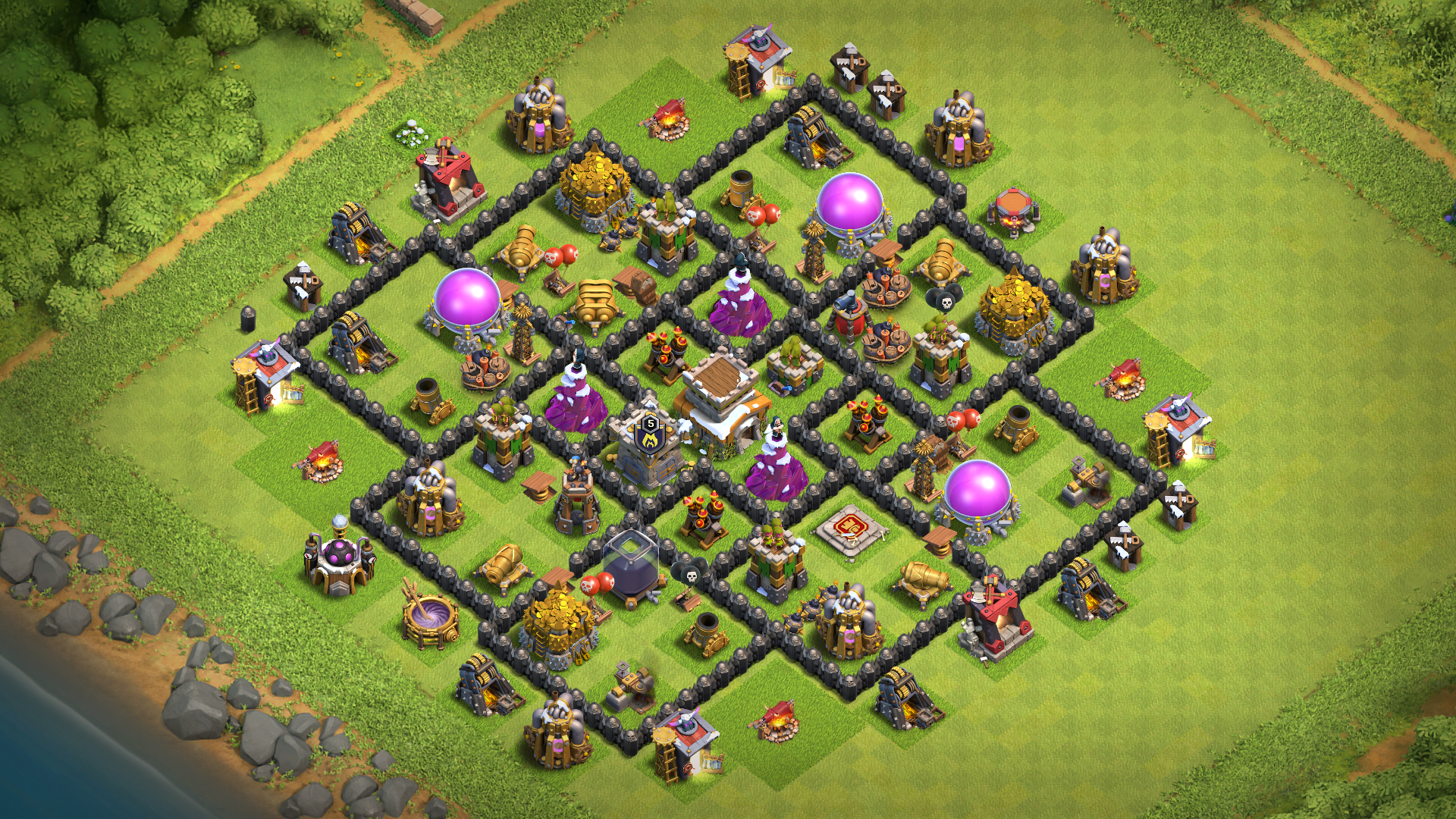 COC TH8 War Base 2019