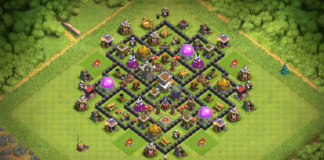 NEW BEST Clash of Clans Town Hall 8 (TH8) War-Trophy-Hybrid Base 2019 with REPLAY