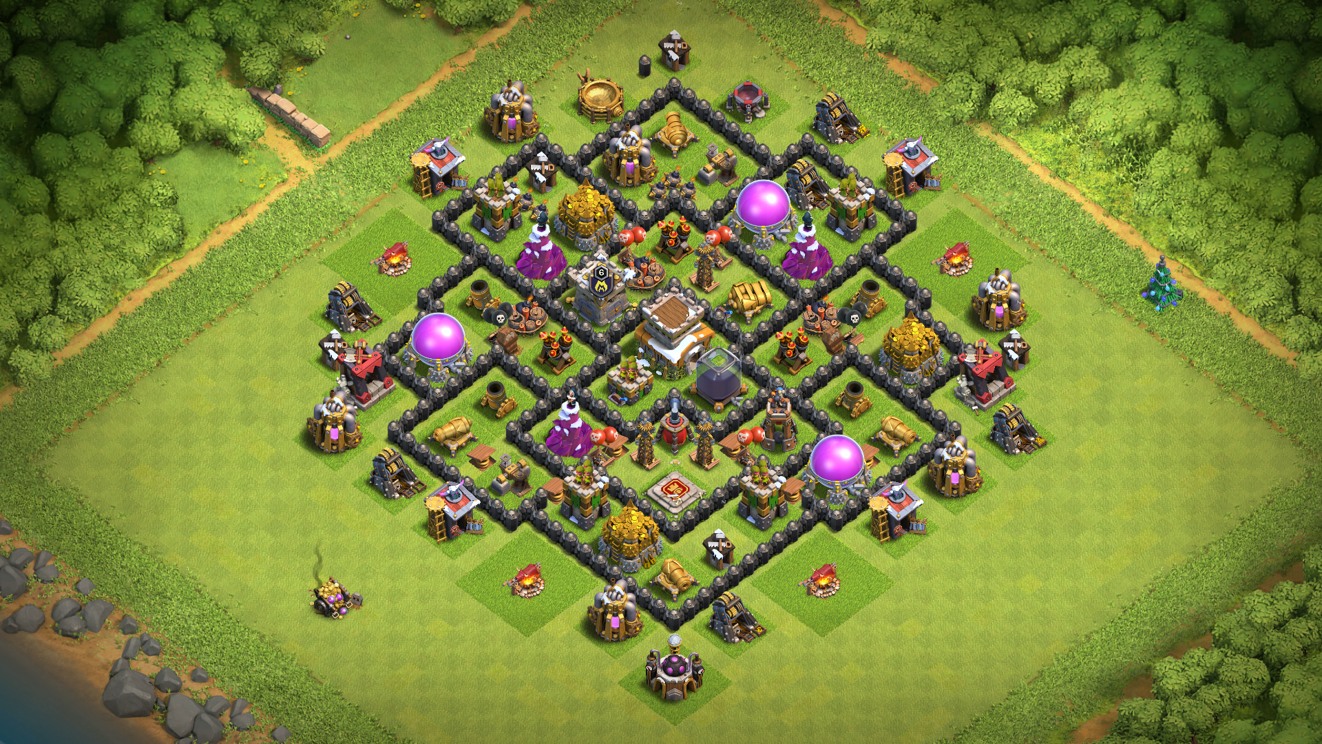 Coc Th 8 Best Base 7