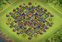 NEW BEST TH10 HYBRID-FARMING Base 2019 with REPLAY - Clash of Clans