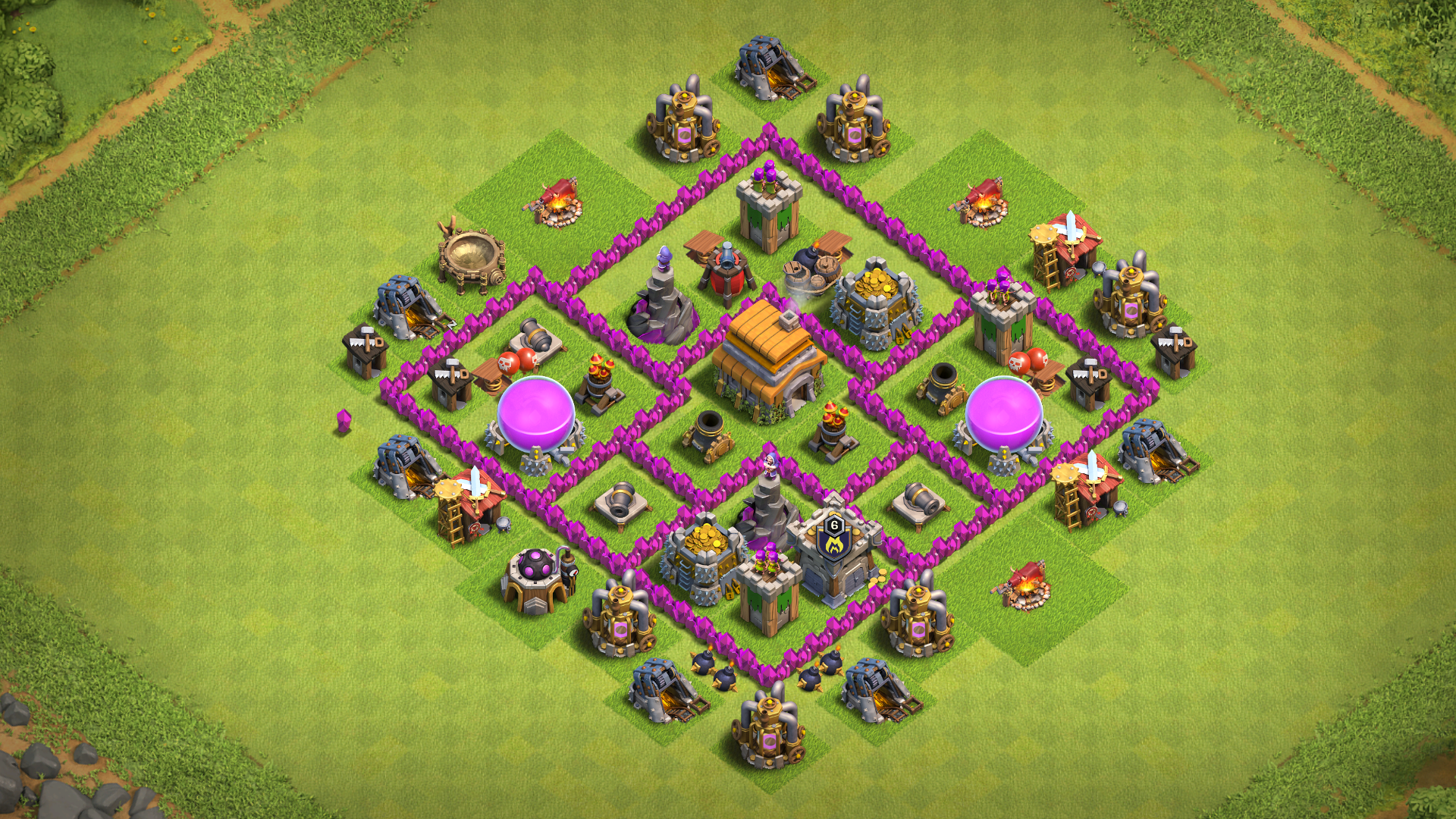 Coc Th 6 Base Layout 1
