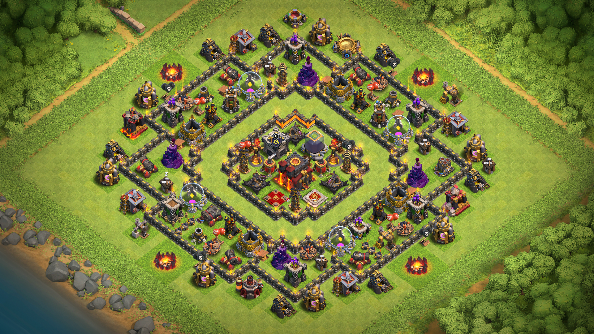 Best Th10 Base Layout 2019 2