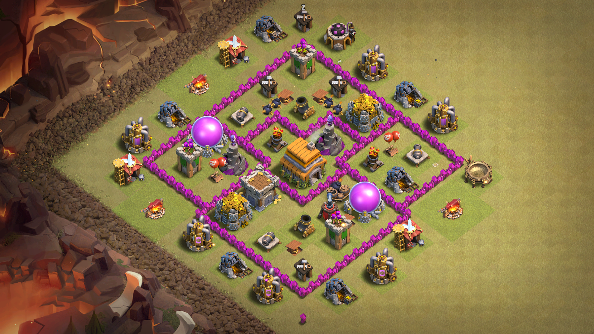 Best War Base For Th 6 7